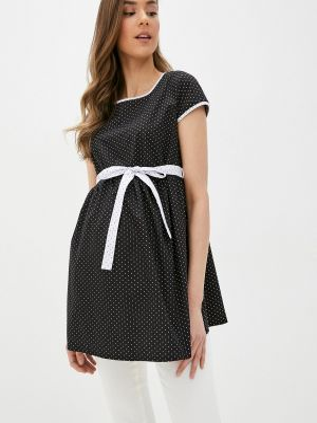 Блузка с коротким рукавом черная весенний Mammysize
