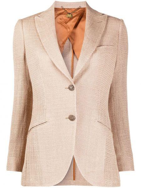 С рукавами шерстяная куртка с лацканами с карманами Maurizio Miri