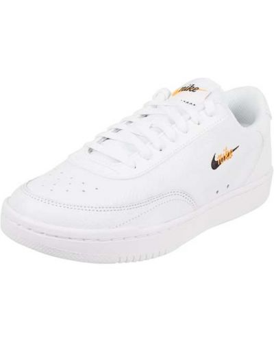 Białe sneakersy skorzane vintage Nike