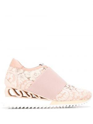 Кожаные кроссовки - розовые Le Silla