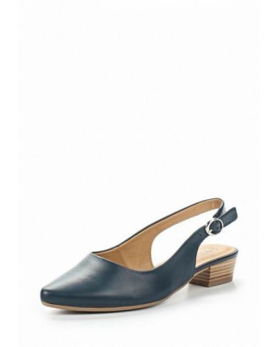 Синие туфли с открытой пяткой Tamaris