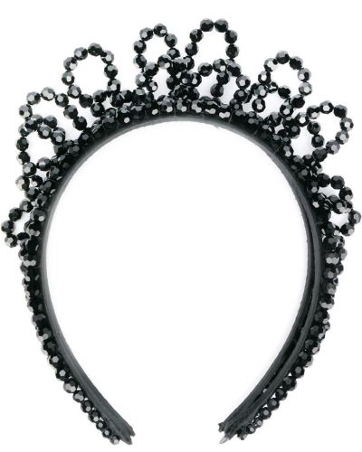 Ободок с бисером - черный Simone Rocha
