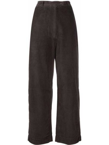 Прямые коричневые брюки вельветовые Kristensen Du Nord