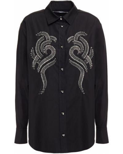 Czarna koszula bawełniana zapinane na guziki Alexander Wang