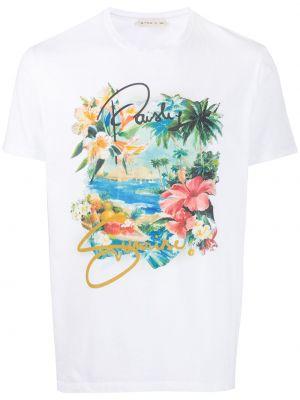 Koszula krótkie z krótkim rękawem z nadrukiem z kwiatowym nadrukiem Etro