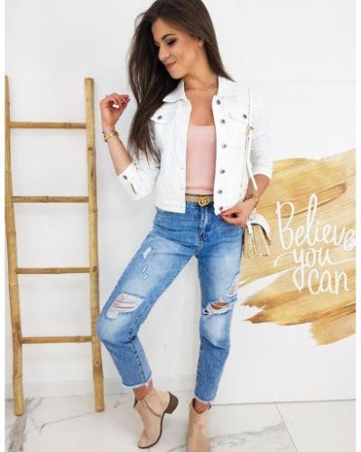 Kurtka jeansowa - biała Dstreet