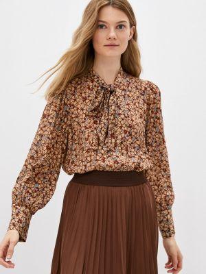 Блузка с бантом - коричневая Rich&royal