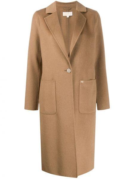 Однобортное шерстяное пальто классическое с капюшоном Michael Michael Kors