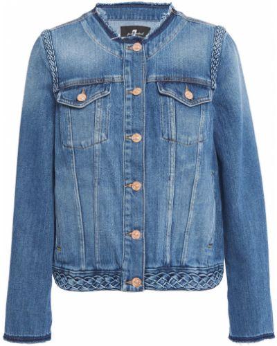 Синяя текстильная джинсовая куртка 7 For All Mankind