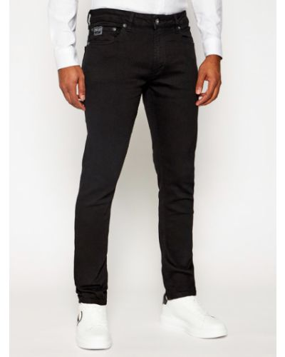 Czarne jeansy Versace Jeans Couture