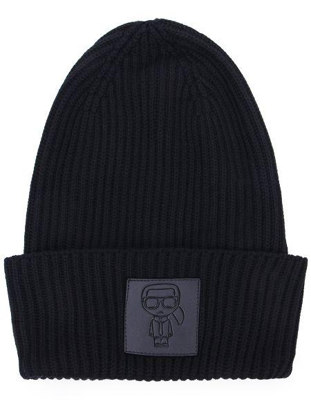 Кашемировая шапка - черная Karl Lagerfeld