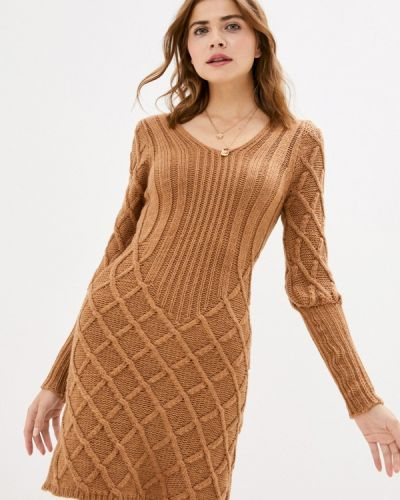 Коричневое вязаное платье Rinascimento