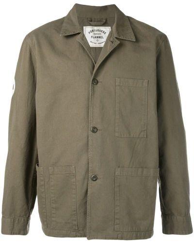 Фланелевая куртка милитари с манжетами Portuguese Flannel