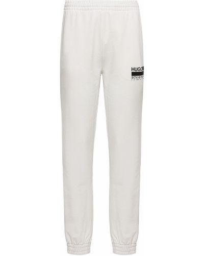 Spodnie bawełniane z printem Hugo