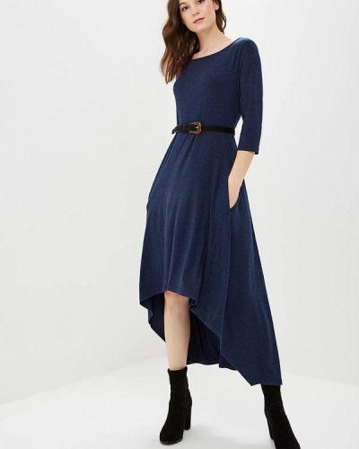 Платье осеннее синее Lada Kalinina