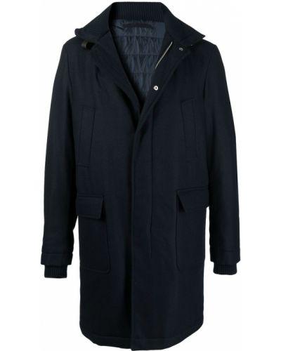 Niebieski z rękawami płaszcz przeciwdeszczowy od płaszcza przeciwdeszczowego z kieszeniami Eleventy