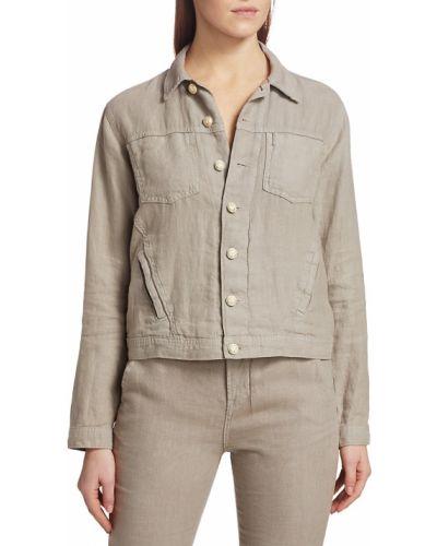 Приталенная длинная куртка с воротником с длинными рукавами L'agence