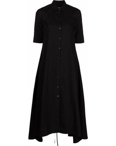 Платье мини с открытой спиной - черное Rosetta Getty