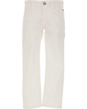 Białe spodnie bawełniane Siviglia
