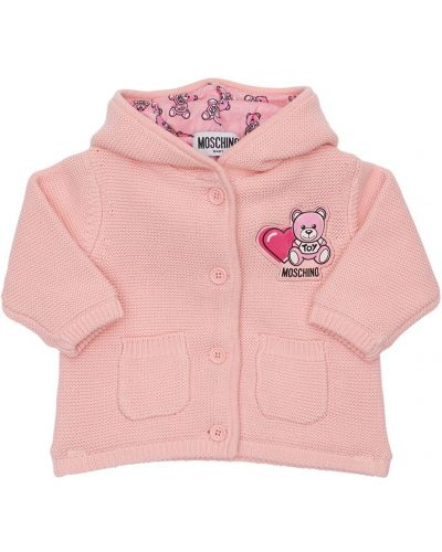 Różowy kardigan bawełniany Moschino