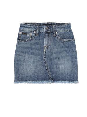 Синяя джинсовая юбка из штапеля Polo Ralph Lauren Kids