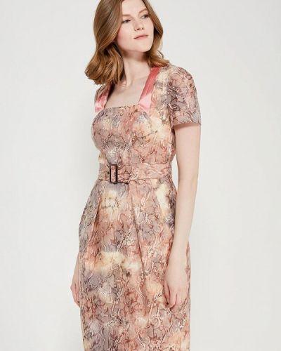 Платье осеннее бежевое Ано