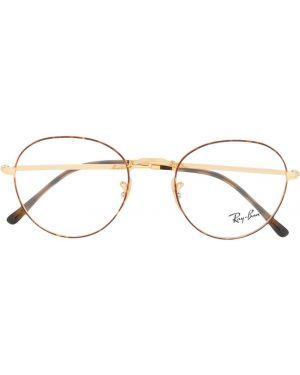 Желтые очки круглые металлические Ray-ban