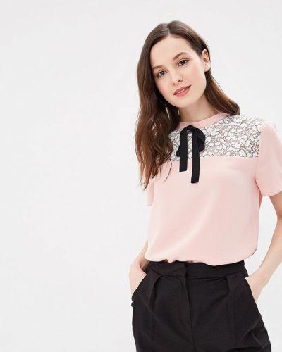 Блузка с коротким рукавом розовая весенний Calista
