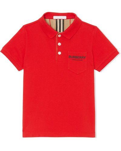 Рубашка красный Burberry Kids