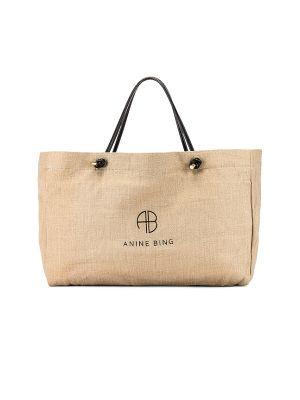 Льняная косметичка с подкладкой золотая Anine Bing