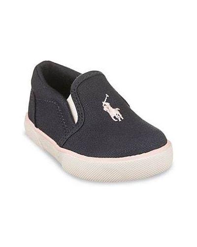 Sneakersy bawełniane z haftem Polo Ralph Lauren