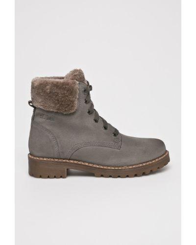 Кожаные сапоги на шнуровке на каблуке S.oliver