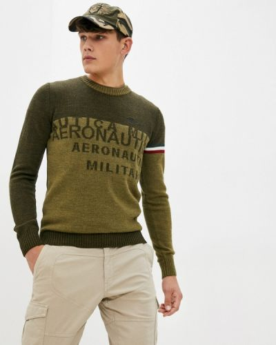 Джемпер осенний хаки Aeronautica Militare