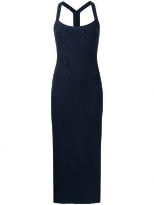 Прямое синее платье миди без рукавов Manning Cartell