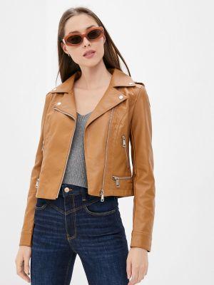 Кожаная куртка - коричневая Softy