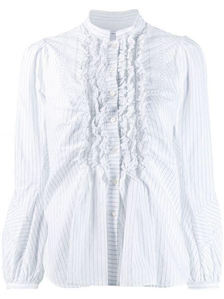Bluzka z długimi rękawami z falbanami bawełniana High By Claire Campbell