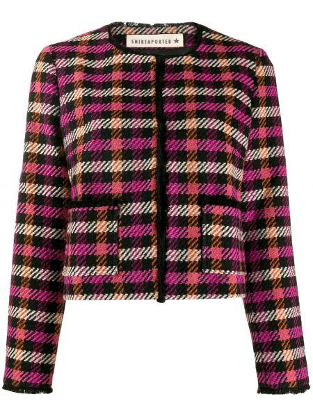 Черная куртка твидовая Shirtaporter