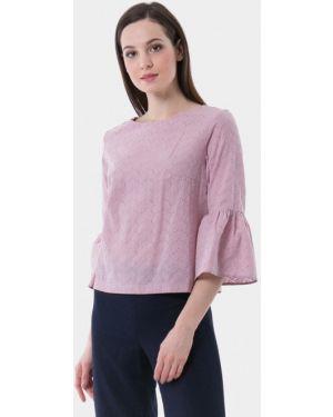 Блузка с длинным рукавом розовая весенний Vladi Collection