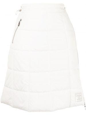 С кулиской с завышенной талией белая спортивная юбка Chanel Pre-owned