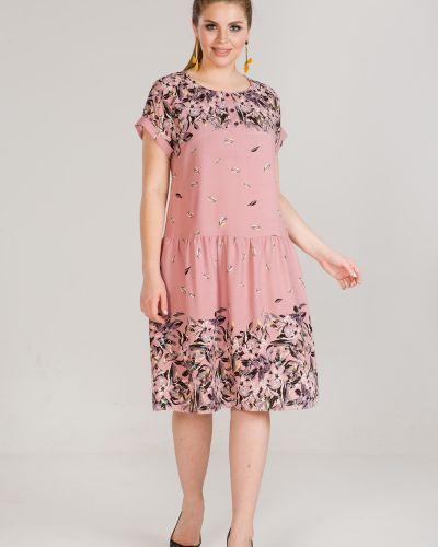 Летнее платье из штапеля с цветочным принтом марита