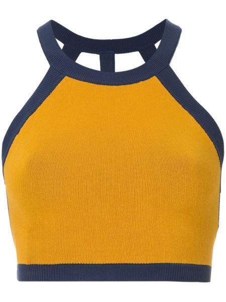 Żółty top sportowy bawełniany Nagnata