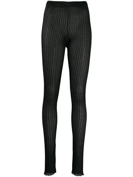 Трикотажные черные леггинсы эластичные Jil Sander