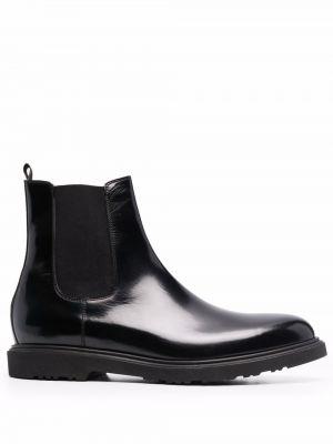 Черные кожаные ботинки Paul Smith