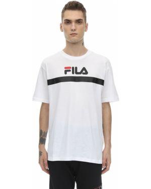 Biały t-shirt bawełniany Fila Urban