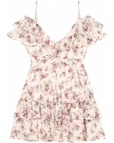 Платье мини с декольте с цветочным принтом I Am  Studio