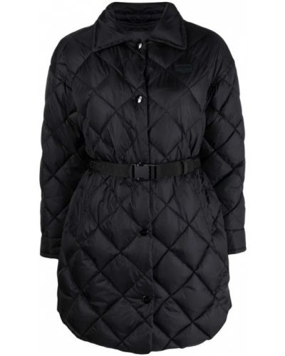 Czarny płaszcz Duvetica