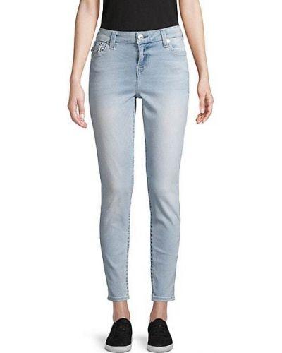 Повседневные синие джинсы стрейч True Religion