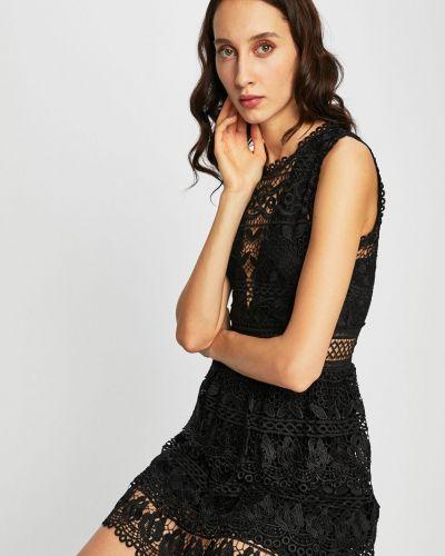 Облегающее черное платье мини Guess Jeans