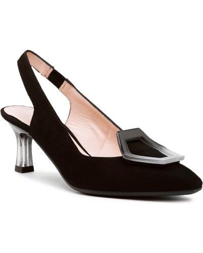 Czarne sandały zamszowe Hispanitas