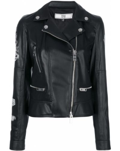 Куртка черная байкерская Versus